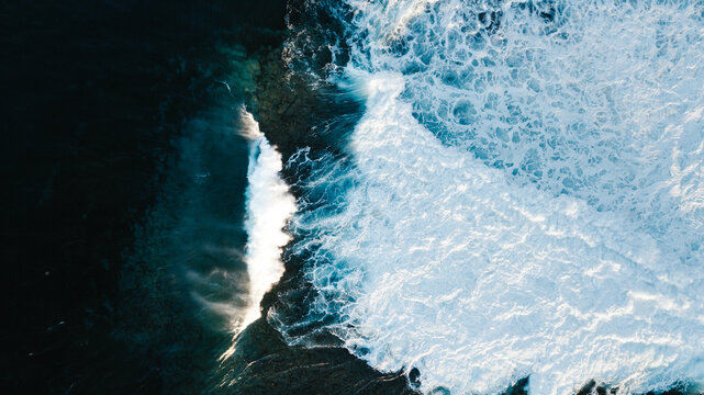 Abstract background of waving sea