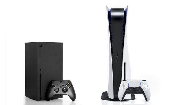 Xbox Series X and Playstation 5 isolated, 5 Jul, 2021, Sao Paulo, Brazil