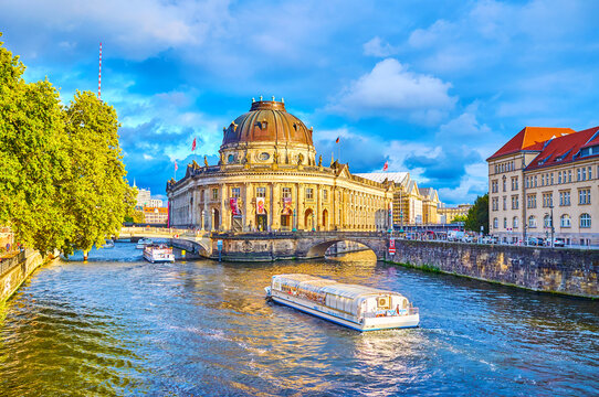 The famous landmark on Spree river, on October 3 in Berlin, Germany