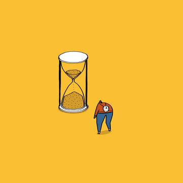 Hourglass with Tiny People