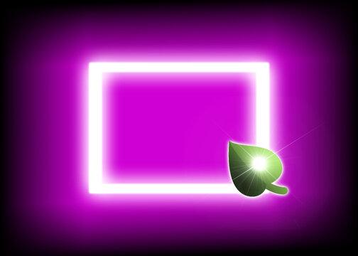 LED Licht vor Hintergrund in pink