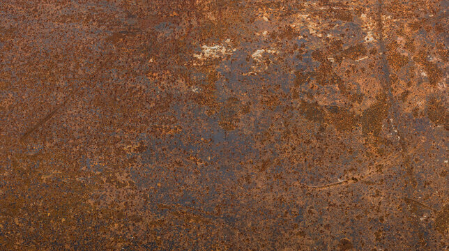 Grunge rusted metal texture, rust, and oxidized metal background. Old metal iron panel