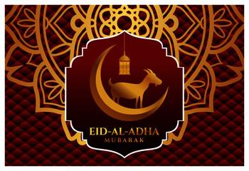 Obraz Eid ul Adha Mubarak islamic design with arabic pattern and calligraphy - fototapety do salonu