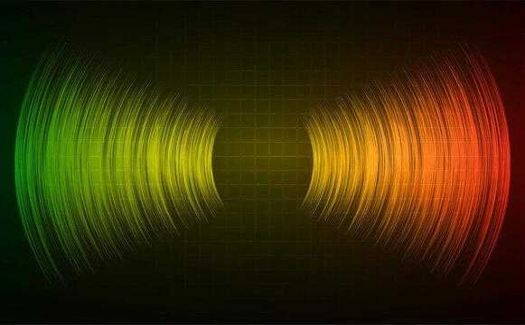Sound waves oscillating dark light