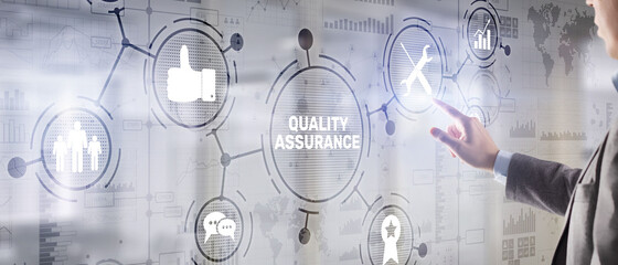 Fototapeta Quality Assurance ISO DIN Service Guarantee Standard Retail Concept obraz