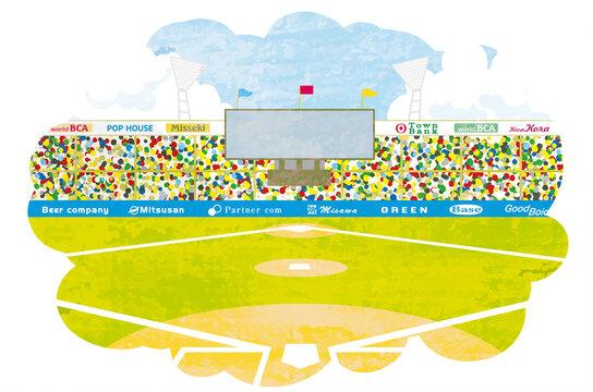 野球場 グラウンド イラスト