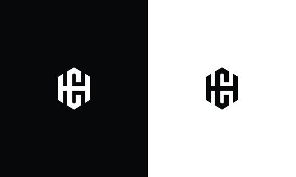 Alphabet letters monogram icon logo CH or HC