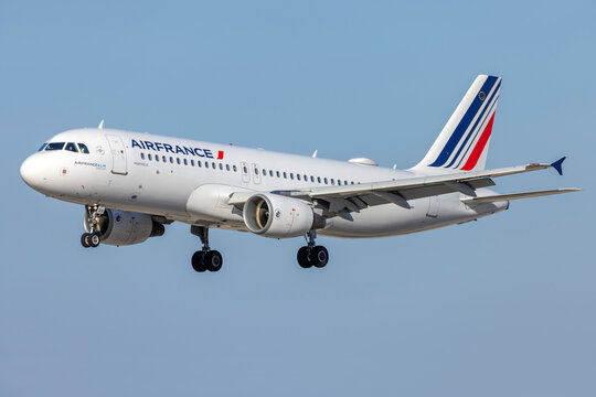Luqa, Malta - July 5, 2021: Air France Airbus A320-214 (Reg.: F-GKXH) making the inaugural flight for the season to Malta.