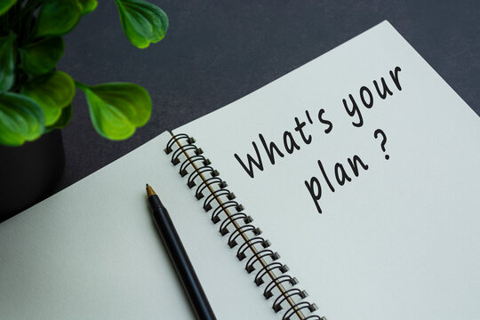 What is your plan text on notebook with dark background