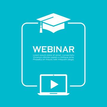 Online education vector poster design