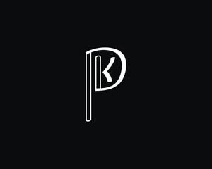 Obraz creative letter PK logo design vector template - fototapety do salonu