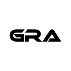 Fototapeta GRA letter logo design with white background in illustrator, vector logo modern alphabet font overlap style. calligraphy designs for logo, Poster, Invitation, etc. obraz