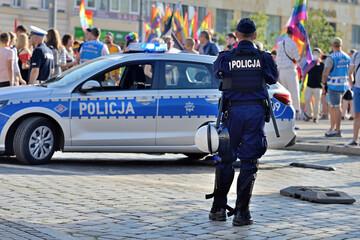 Obraz Policja. - fototapety do salonu