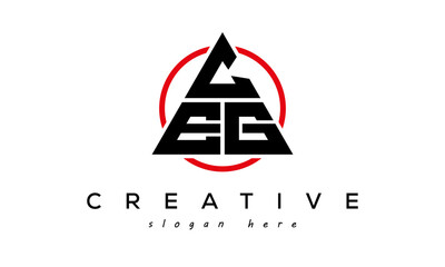 Obraz CEG triangle letter with circle logo - fototapety do salonu