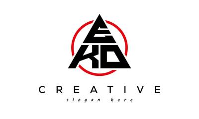 Obraz EKO triangle letter with circle logo - fototapety do salonu