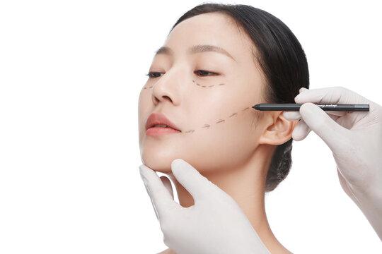 Do facial ascending young woman