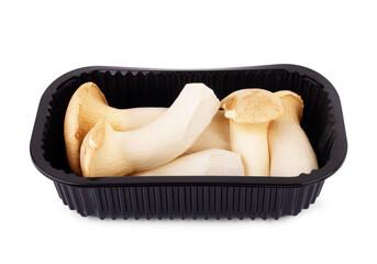 Fototapeta fresh mushrooms. Homemade pickles. Isolated over white background obraz