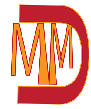 red and yellow font and  MM alphabet logo