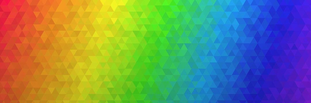 Low Poly Polygon Hintergrund Textur in Regenbogen Farben