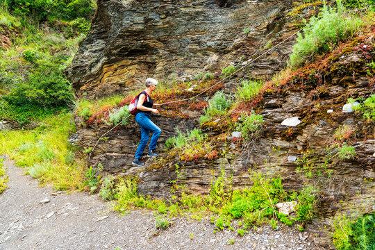 Über den Weinberg Erdener Treppchen an der Mosel auf den gleichnahmigen Klettersteig