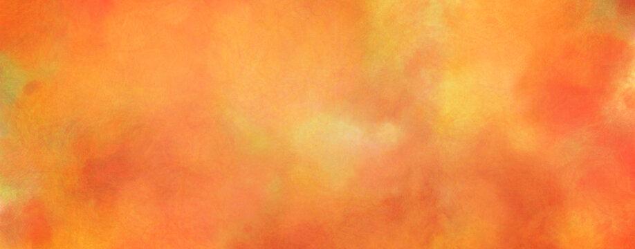 秋色の水彩の筆の跡、背景素材、テクスチャ