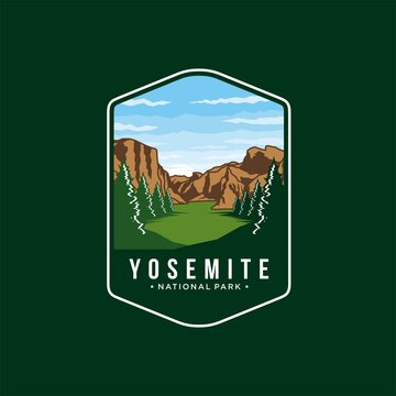 yosemite logo badge vintage illustration design