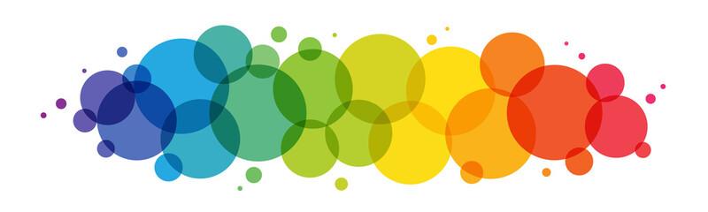 Fototapeta Rainbow gradient vector circles background on white background obraz