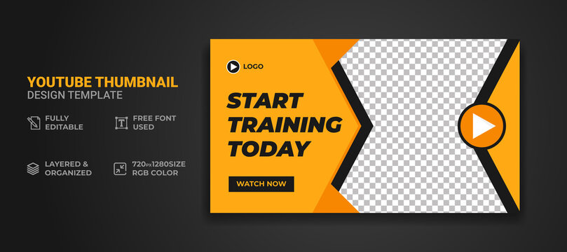 Youtube thumbnail and web banner template