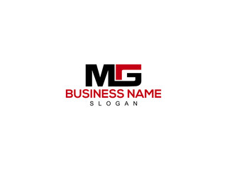 Fototapeta Letter MG, Creative mg Logo Icon Vector Image Design obraz