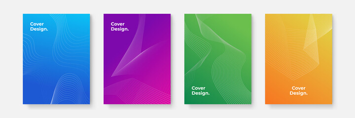 Fototapeta Business vector mega set. Brochure template layout, cover design. The vector illustration of the editable layout of A4 format cover mockups design templates with geometric background made from dots obraz