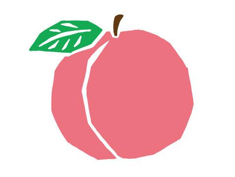 桃 レトロなかわいいイラスト