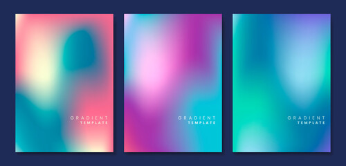 Obraz Colorful and blurred gradient template Free Vector  - fototapety do salonu