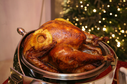 Roasted chicken for celebrations