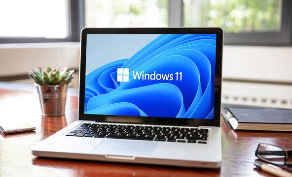 Microsoft Windows 11 sign on computer screen