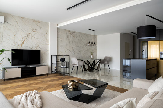 Luxury apartment with open plan design