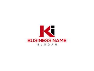Obraz Letter KI Logo, creative ki logo icon vector for company or business - fototapety do salonu