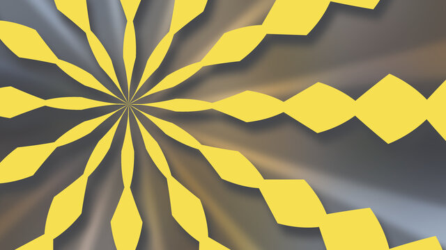 Yellow Pattern Composed of Rhombus Shapes on Shades of Gray