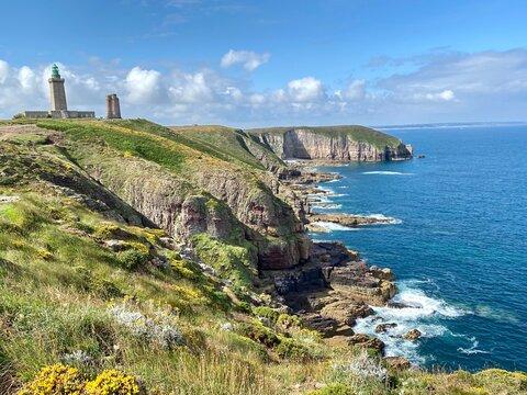 Paysage sauvage du cap frehel en Bretagne