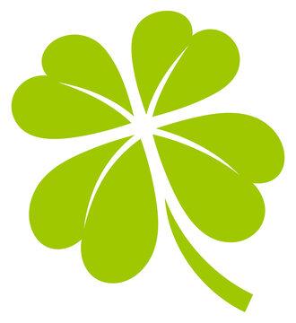 Hellgrünes Grafisches Kleeblatt Vier Blätter