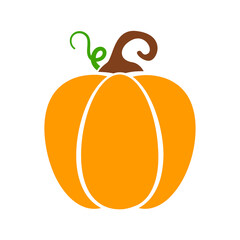Obraz Yellow pumpkin vector for carving scary ghost faces for Halloween. - fototapety do salonu