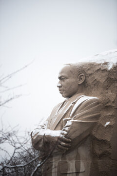 martin luther king memorial - winter