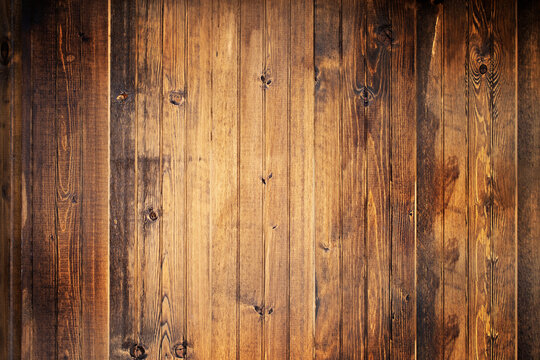 Wooden background with highlighted and dark areas