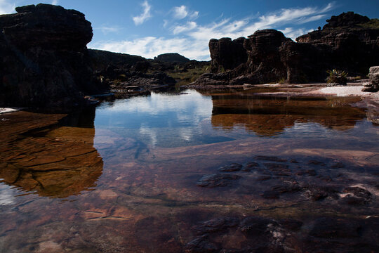 Lake on the top of Monte Roraima