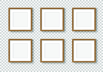 Obraz Photo image frame. Wall picture mock up for photograph composition object with shadow. Vector illustrator. - fototapety do salonu