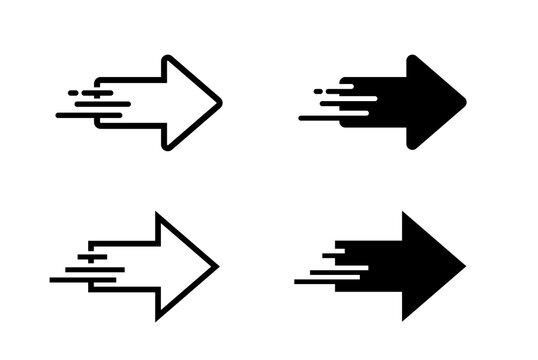 移動するイメージの矢印アイコンセット