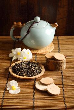 Studio shot of a tea pot