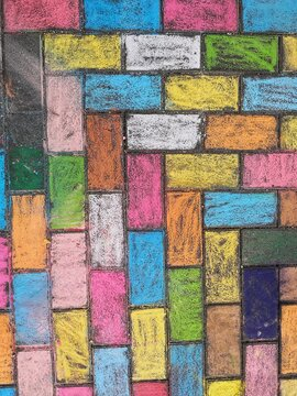 Full Frame Shot Of Multi Colored Ground