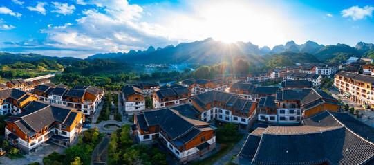 Obraz Mengliu Town, xiaoqikong scenic spot, Libo County, Guizhou Province, China - fototapety do salonu