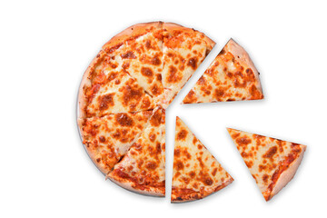 Obraz Pizza Margarita. - fototapety do salonu