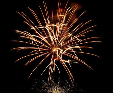 Celebrating a holiday with beautiful Fireworks